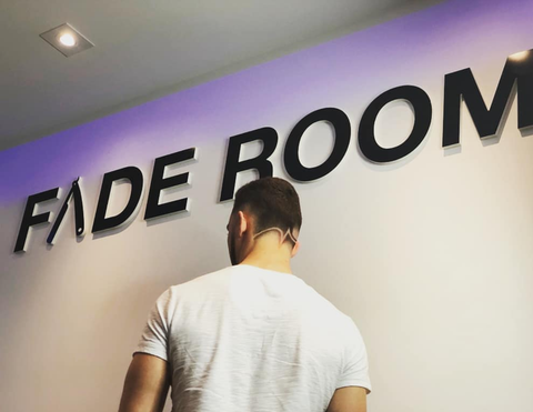 Fade Room haircut - super fresh fade with design Toronto, Ontario