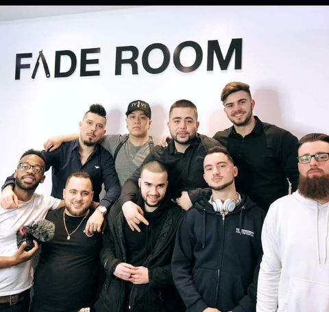 Famos with Claudio and Fade Room crew Toronto, Ontario. #barbershopconnect