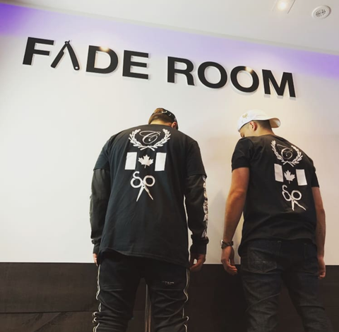 Famos and Claudio the barber host a barber look and learn in Toronto's Fade Room barbershop