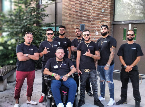 Fade Room barbershop and team outside of the heavy hitters barber battle in Toronto Ontario. Best Barbers in Canada