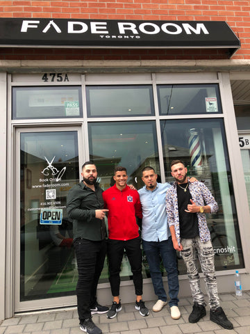MLS soccer player Rafael Ramos gets his haircut at Fade Room Toronto