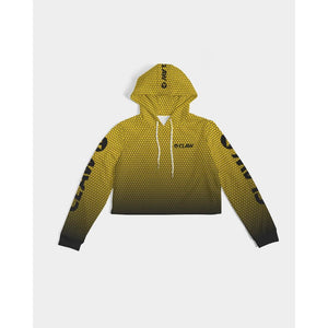 Apex Yellow Women's Cropped Hoodie