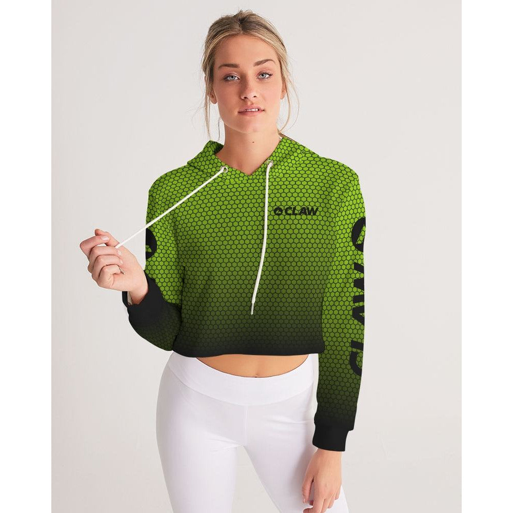 Apex Green Women's Cropped Hoodie