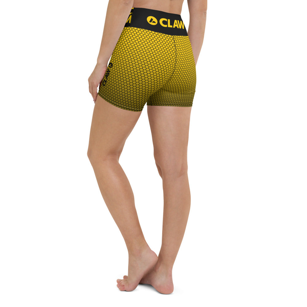 Apex Yellow Yoga Shorts