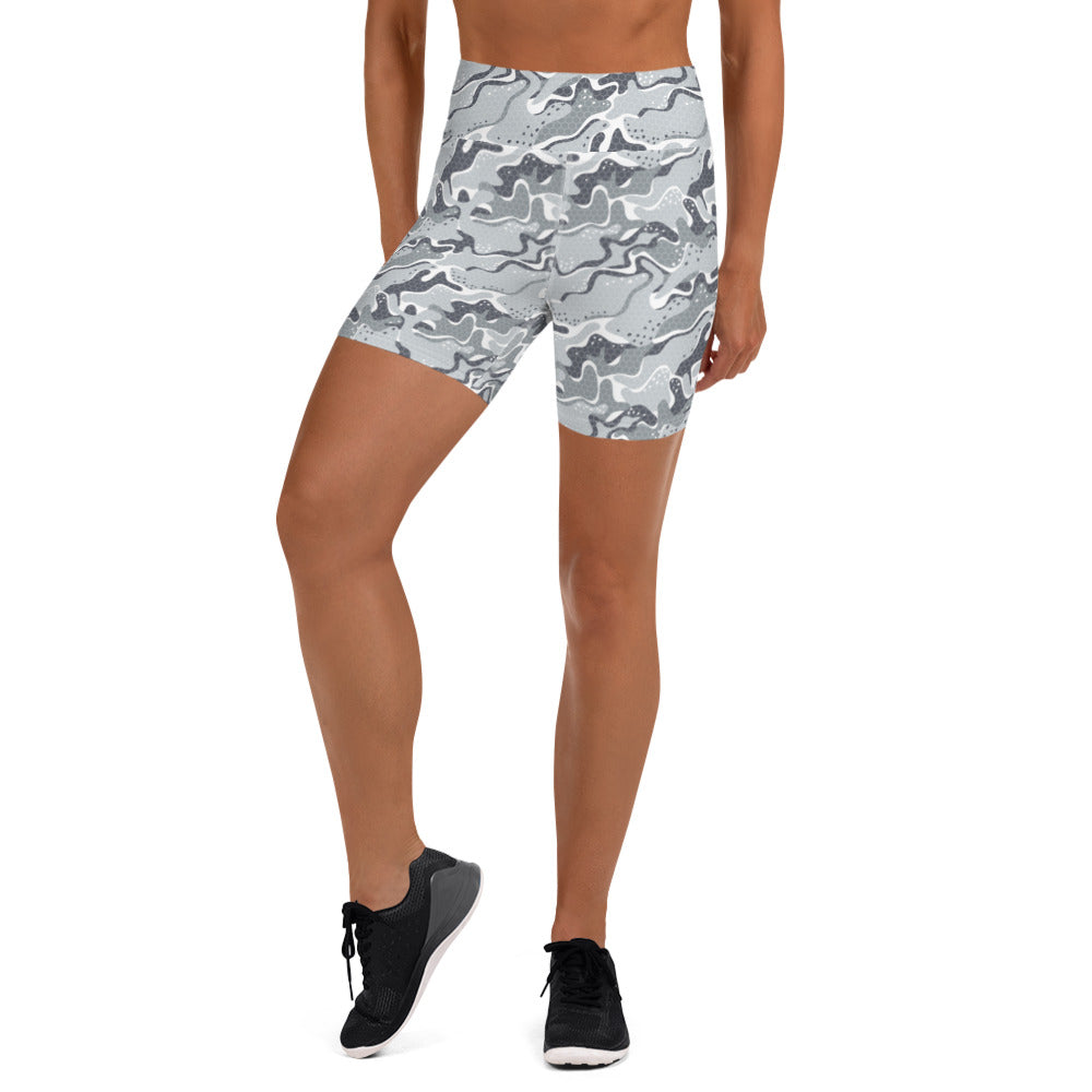 Snow Tech Camo Yoga Shorts