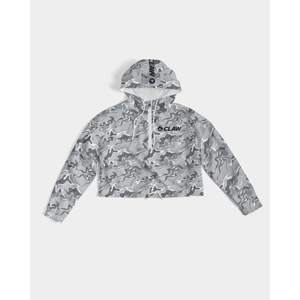 Snow Tech Camo Women's Cropped Windbreaker