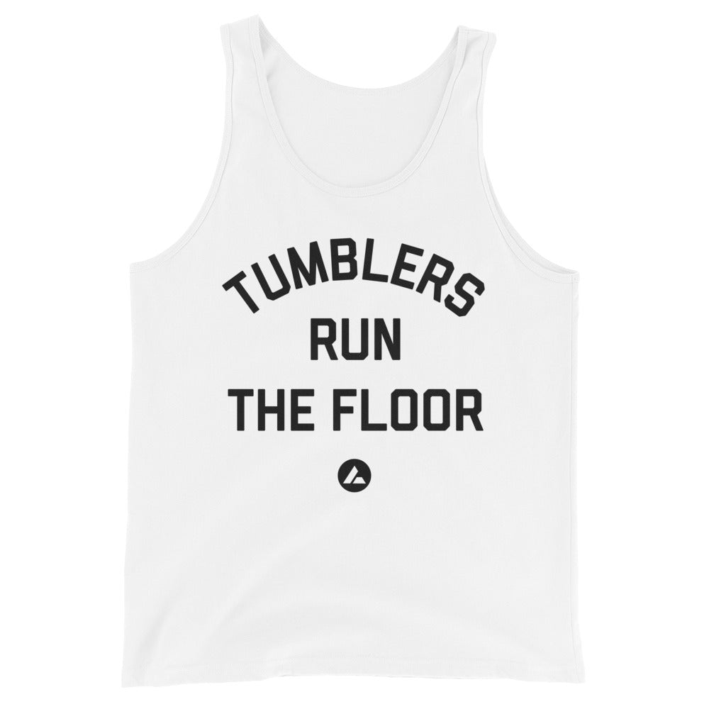 Tumblers Run the Floor White Tank