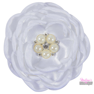 Annabelle Satin Flower Clips