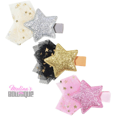 Starry Eyed Glitter Clips