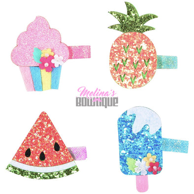 Sweet Tooth Glitter Clips