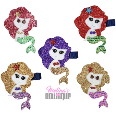 Mermaid Glitter Clips