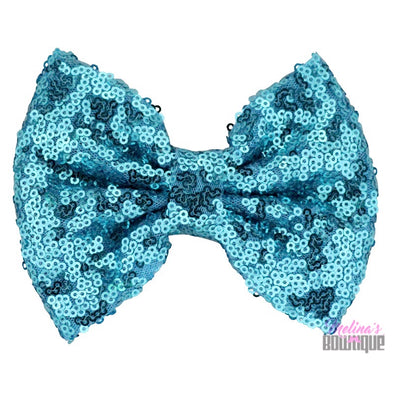 Aqua Sequin Bows
