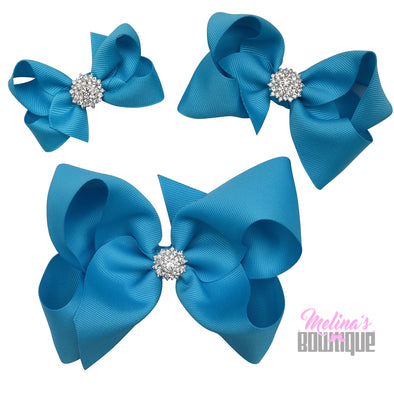 Turquoise Bling Bows