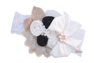 Black Biscotti Couture Headband