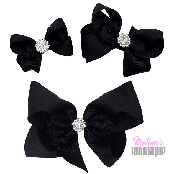 Black Bling Bows
