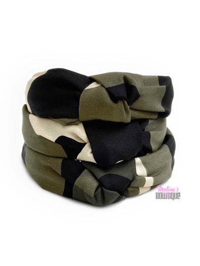 Camo Topknot Headbands