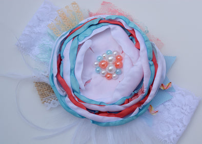 Blue Carnival Couture Headband