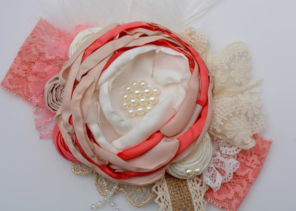 Coral Carnival Couture Headband