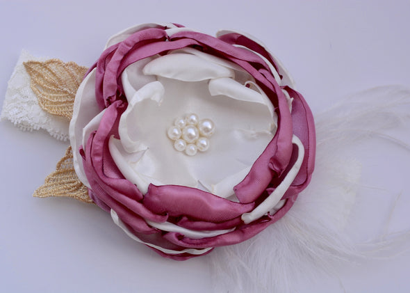 Dusty Rose Carnival Couture Headband