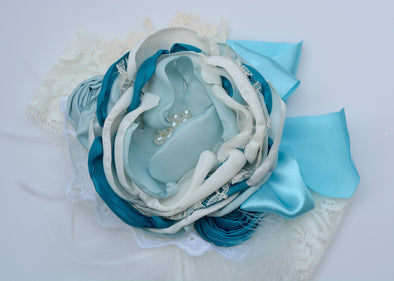 Teal Carnival Couture Headband
