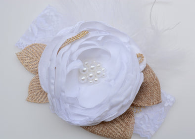 White Carnival Couture Headband