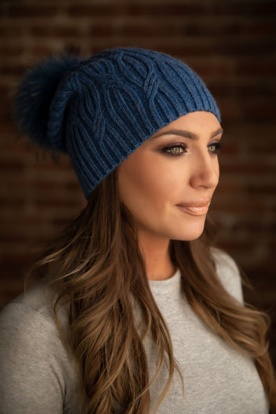 Blue Cashmere Slouch