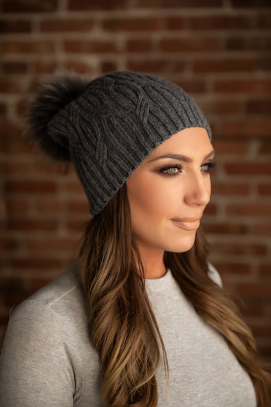 Charcoal Cashmere Slouch