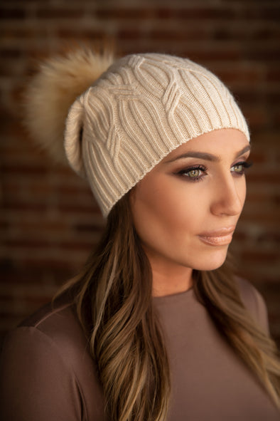 Cream Cashmere Slouch