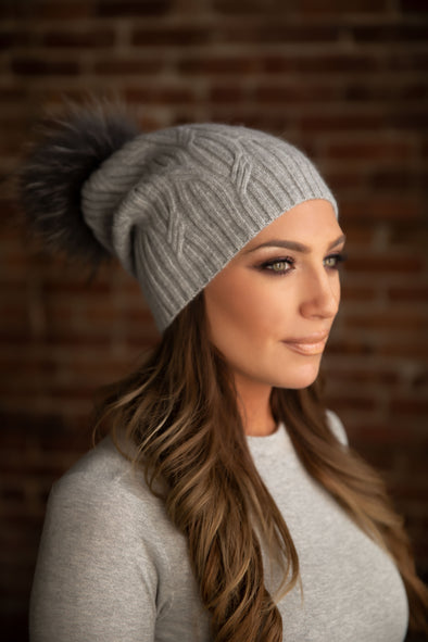 Grey Cashmere Slouch