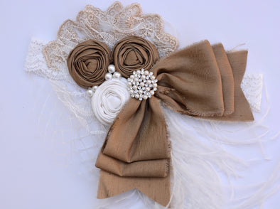 Gold Romance Couture Headband