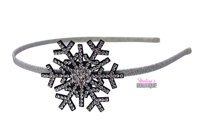 Glitter Snowflake Headbands