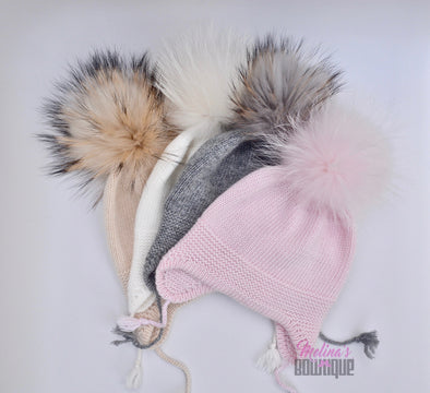 Cappuccino Single Pom Angora Hat