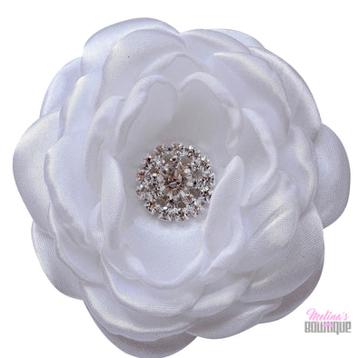 Angeline Satin Flower Clips