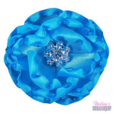 Aqua Adalyn Satin Flower