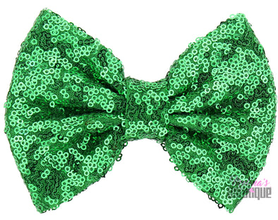 Emerald Sequin Bows