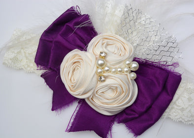Purple Grace Couture Headband