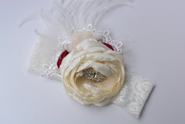 Red Haley Couture Headband