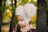 Cappuccino Crystal Double Pom Hat
