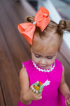 Neon Orange Bling Bows