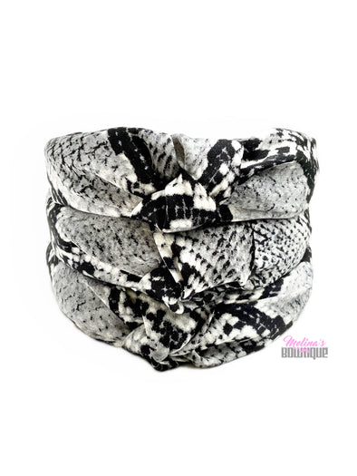 Snake Print Topknot Headbands