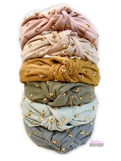 Linen Starburst Topknot Headbands