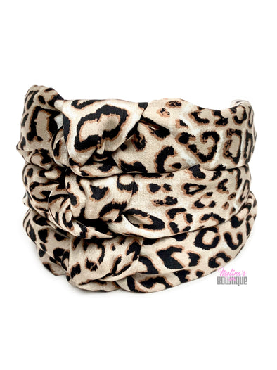 Cheetah Topknot Headbands