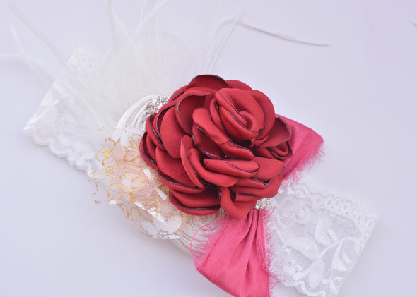Cranberry Isabelle Couture Headband