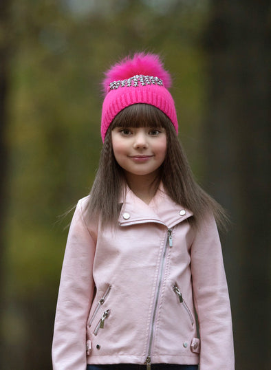 Girls Starburst Angora Hats