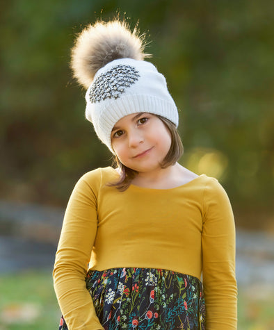 Girls Starburst Angora Hat
