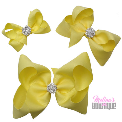 Lemon Bling Bows