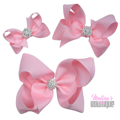 Light Pink Bling Bows