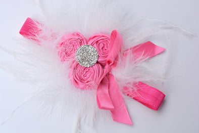 Hot Pink Magnolia Couture Headband