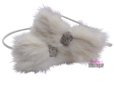 Mink Bow Headbands