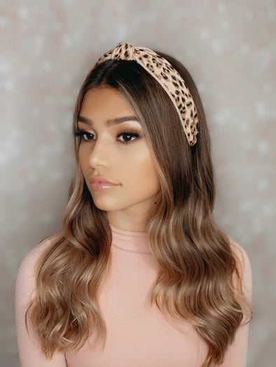 Leopard Pastel Topknot Headbands